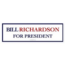 Bill Richardson for President Bumper Car Car Sticker