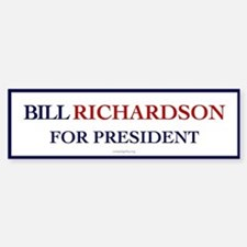 Bill Richardson for President Bumper Car Car Sticker