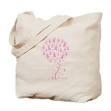 Pink Ribbon Breast Cancer Tre Tote Bag