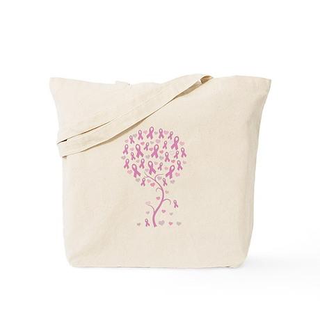 Pink Ribbon Breast Cancer Tre Tote Bag