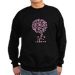 Pink Ribbon Breast Cancer Tre Sweatshirt (dark)