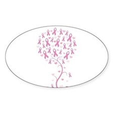 Pink Ribbon Breast Cancer Tre Decal