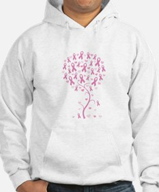 Pink Ribbon Breast Cancer Tre Hoodie