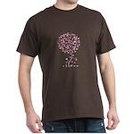 Pink Ribbon Breast Cancer Tre Dark T-Shirt