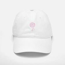 Pink Ribbon Breast Cancer Tre Baseball Baseball Cap