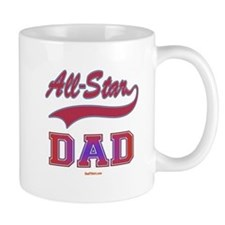 All Star Dad Father's Day Small Mug