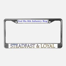 2nd Bn 8th Inf License Plate Frame