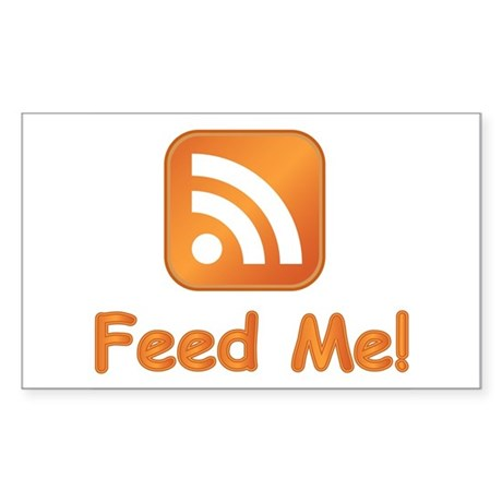 Feed Me Rectangle Sticker