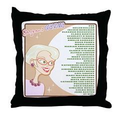A Gorgeous Grandma Is... Throw Pillow