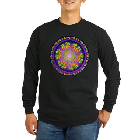 Nature Mandala Long Sleeve Dark T-Shirt