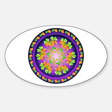 Nature Mandala Sticker (Oval)