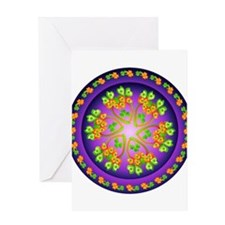 Nature Mandala Greeting Card