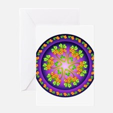 Nature Mandala Greeting Card