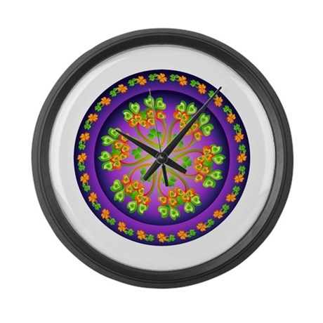 Nature Mandala Large Wall Clock