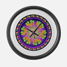 Nature Mandala Large Wall Clock