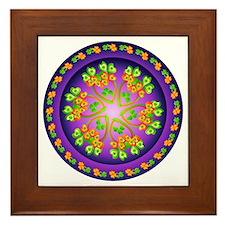 Nature Mandala Framed Tile