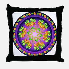 Nature Mandala Throw Pillow