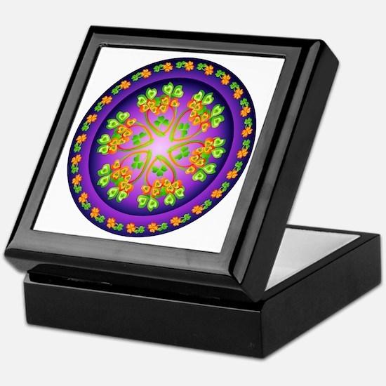 Nature Mandala Keepsake Box