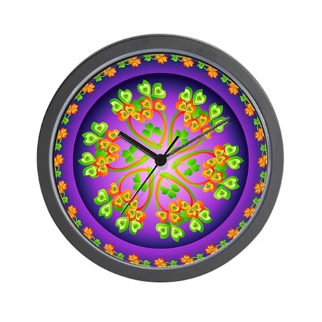 Nature Mandala Wall Clock by flowoflife