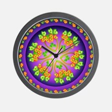 Nature Mandala Wall Clock