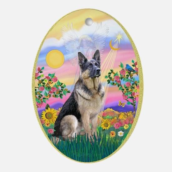 Guardian - German Shepherd Ornament (Oval)