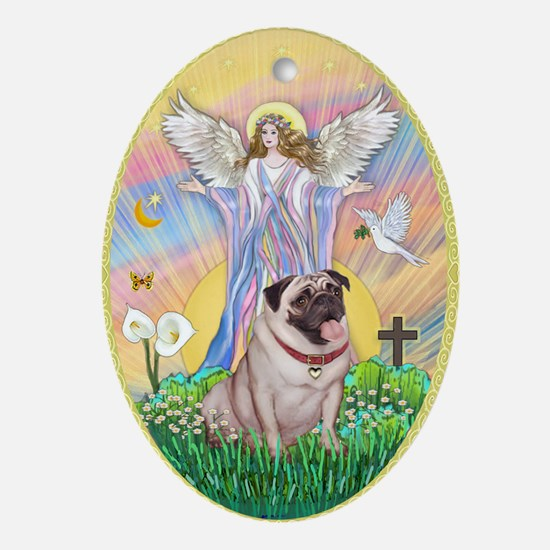 A Blessng for a Pug Ornament (Oval)