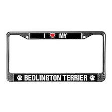 I Love My Bedlington Terrier License Plate Frame