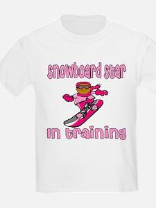 Snowboard Star in Training Hannah Kids T-Shirt