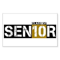 Senior Class 2010 Sticker (Rectangle 10 pk)