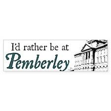 Pemberley Bumper Car Sticker