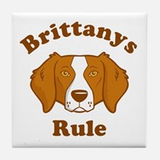 Brittanys Rule Tile Coaster