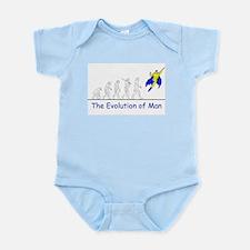 The Evolution of Man Infant Bodysuit