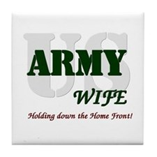 US Army Wife Tile Coaster
