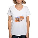 laser tazer razor Women's V-Neck T-Shirt