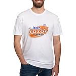 laser tazer razor Fitted T-Shirt