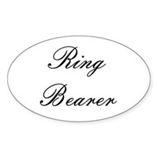 Ring Bearer Embassy Formal Oval Decal