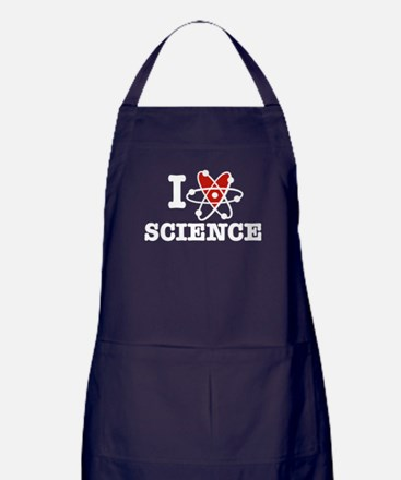 I Love Science Apron (dark)