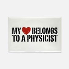 My Heart Belongs To A Physicist Rectangle Magnet