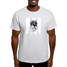 standard schnauzer portrait Ash Grey T-Shirt