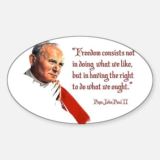 PJPII - Freedom Sticker (Oval)