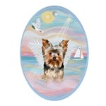 Heavenly Sea - Yorkie (#17) Ornament (Oval)