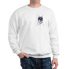 standard schnauzer portrait Sweatshirt