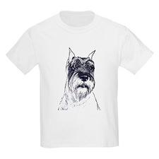 standard schnauzer portrait Kids T-Shirt