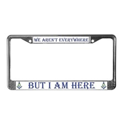 Masons Conspiracy License Plate Frame