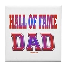 Hall of Fame Father's Day Tile Coaster