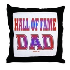 Hall of Fame Father's Day Throw Pillow