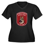 Freeport Police K9 Women's Plus Size V-Neck Dark T