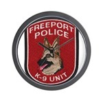 Freeport Police K9 Wall Clock