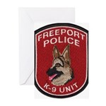 Freeport Police K9 Greeting Cards (Pk of 20)