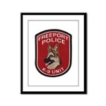 Freeport Police K9 Framed Panel Print